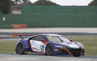 Jacopo Guidetti sul podio di classe a Misano nel GT Sprint