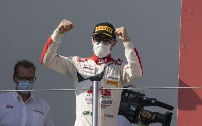 Jacopo Guidetti in pista a Vallelunga per l'esordio nel GT Endurance